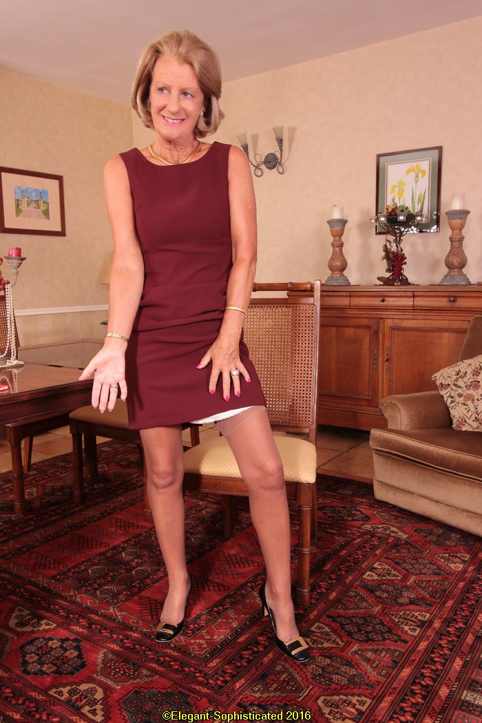 Claudine From Elegant-Sophisticated Claudine Wearing High-Heels Shiny Stockings -1327